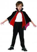 Zwart en rood vampier cape voor kinderen