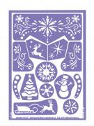 Set van schminksjablonen Sneeuw Prinses Grim