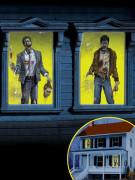 Set van 2 zombie raamversieringen