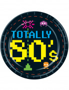 8 kartonnen bordjes jaren 80