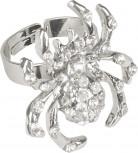 Zilverkleurige spinnen ring voor volwassenen Halloween