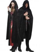 Zwarte cape voor volwassenen Halloween
