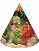 Set van dinosaurus feesthoedjes