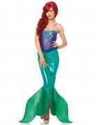 Paars en groen zeemeermin kostuum voor dames - Premium