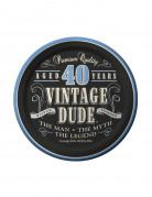 Set van verjaardag bordjes Vintage Dude