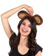 Haarband met apen oren voor volwassenen