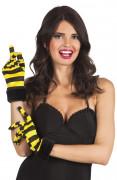 Korte handschoenen met bijen print voor vrouwen