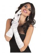 Lange witte handschoenen voor vrouwen
