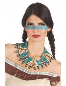 Blauwe indianen ketting voor vrouwen