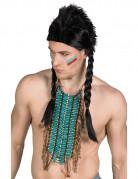 Lange blauwe indianen ketting voor volwassenen