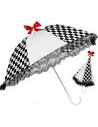 Zwart met wit geblokte parasol