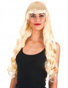 Lange blonde pruik met franje voor vrouwen