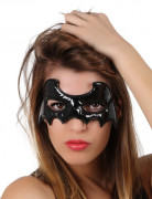 Miss Black Bat vleermuis oogmasker voor volwassenen