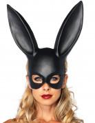 Zwart konijnenmasker