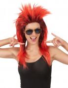Rode punk pruik voor vrouwen