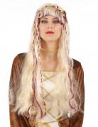 Middeleeuwse pruik met vlechtjes voor vrouwen