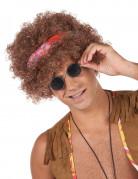 Afro hippie pruik voor heren - 130 g