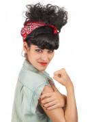 Retro pruik met haarband voor vrouwen