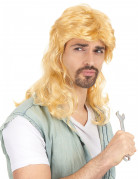 Foute blonde pruik voor mannen