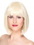 Luxe korte blonde pruik met pony voor vrouwen