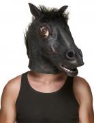Zwarte paard masker voor volwassenen