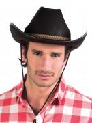 Cowboyhoed met bruine rand voor volwassenen