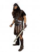 Donkerbruin vking strijder kostuum voor mannen