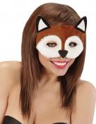 Bruine vossen masker voor vrouwen
