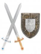 Gladiatorset schild en 2 zwaarden voor kinderen
