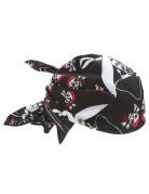 Piraten doodshoofden hoofddoek voor volwassenen