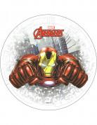 Eetbare taartdecoratie Iron Man Avengers™