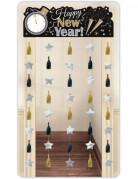 Nieuwjaar decoratie deurgordijn