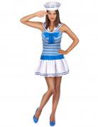 Sexy blauw gestreepte matrozen outfit voor vrouwen