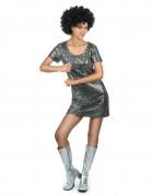 Zilverkleurige disco jurk voor vrouwen