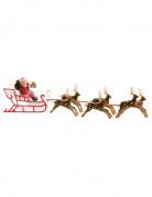 Taartdecoratie van kerstman op slee