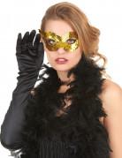 Goudkleurig masker met lovertjes voor volwassenen