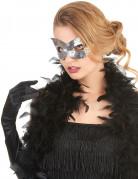 Masker met zilverkleurige lovertjes voor volwassenen