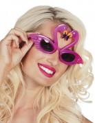 Roze flamingo bril voor volwassenen