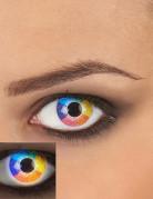 UV contactlenzen regenboog voor volwassenen
