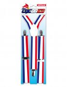 Rood wit blauw bretels voor volwassenen