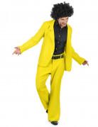 Geel disco kostuum voor heren