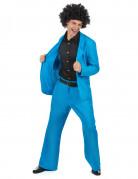 Blauw disco kostuum voor mannen