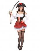 Sexy piraten outfit met tule rok voor dames