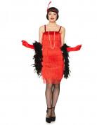 Rood charleston kostuum met franjes voor dames