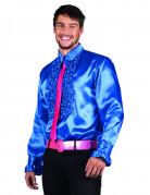Donker blauwe disco overhemd voor mannen