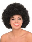 Zwarte volumineuze afro pruik voor volwassenen