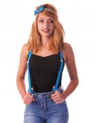 Blauwe fluo bretels voor volwassenen
