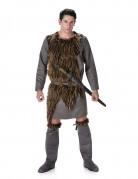 Grijs viking kostuum met nepbond voor heren