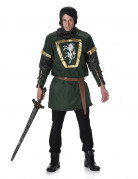 Groen ridderkostuum tuniek voor mannen