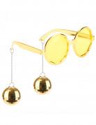 Goudkleurige discobril voor volwassenen